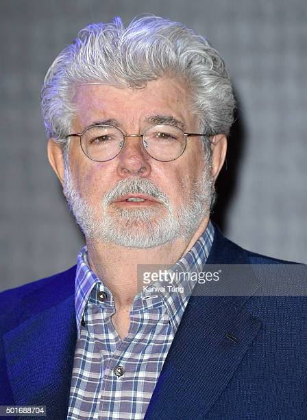 George Lucas attends the European Premiere of 'Star Wars The Force Awakens' at Leicester Square on December 16 2015 in London England