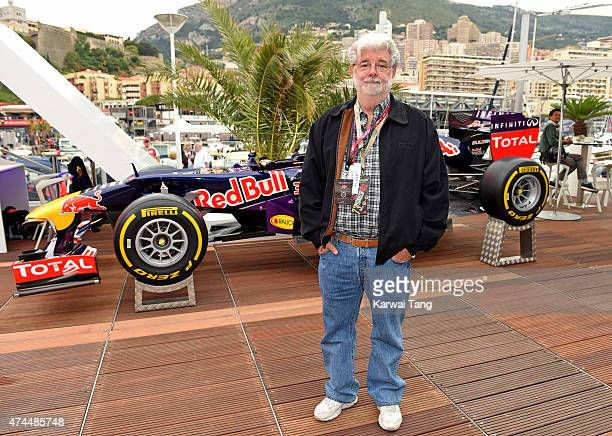 George Lucas attends the Infiniti Red Bull Racing Energy Station at Monte Carlo on May 23 2015 in Monaco Monaco