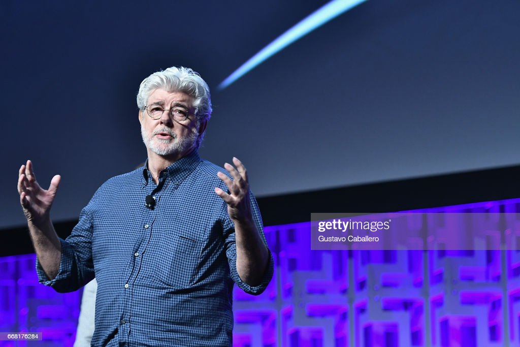 George Lucas attends the Star Wars Celebration day 01 on April 13, 2017 in Orlando, Florida.