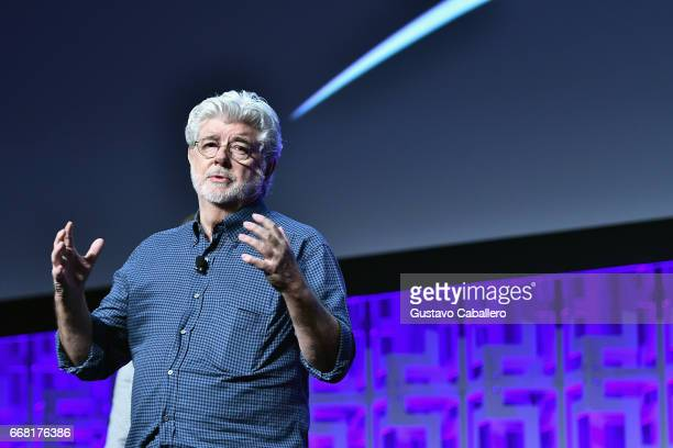 George Lucas attends the Star Wars Celebration day 01 on April 13 2017 in Orlando Florida