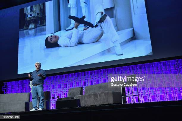 George Lucas attends the Star Wars Celebration Day 1 on April 13 2017 in Orlando Florida