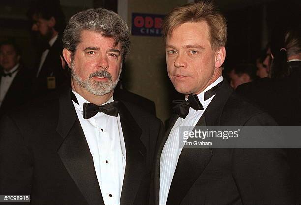 George Lucas the Film's Creator [left] And Mark Hamill Who Played Luke Skywalker At The London Premiere Of The Film 'star Wars'
