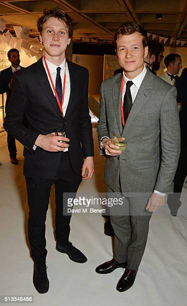 George MacKay and Ed Speleers attend the Bright Young Things Gala 2016 a Young Patrons of the National Theatre event in support of emerging talent at...