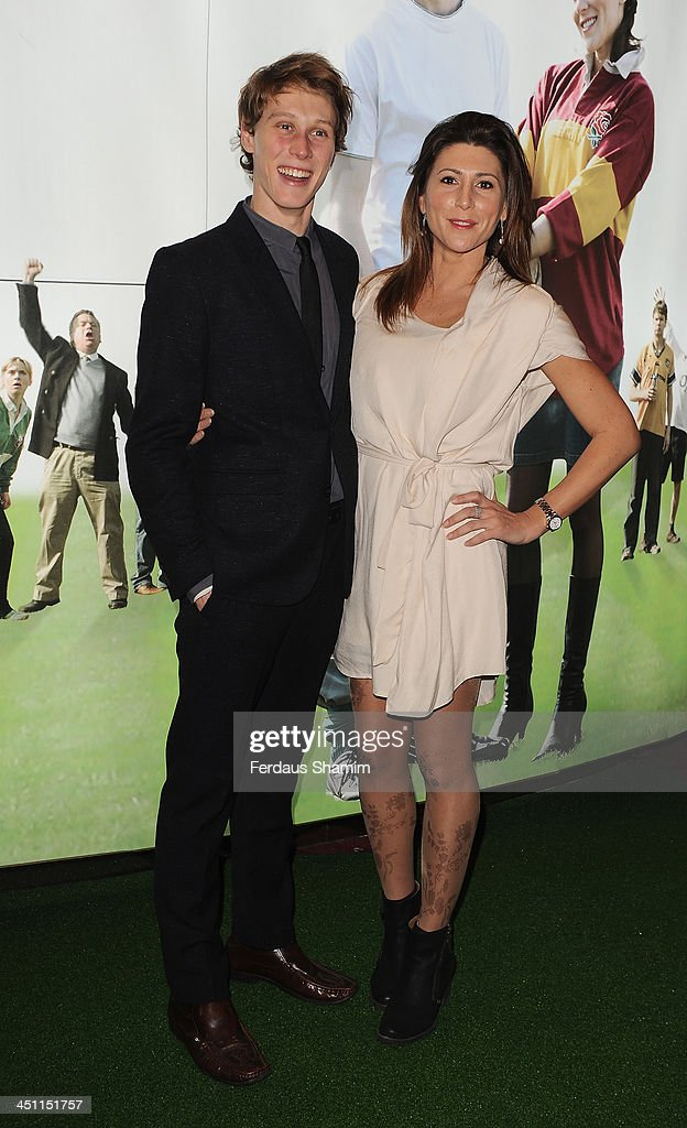 George MacKay and Gina Varela attend the world premiere of 'Breakfast With Jonny Wilkinson' at Empire Leicester Square on November 21, 2013 in London, England.