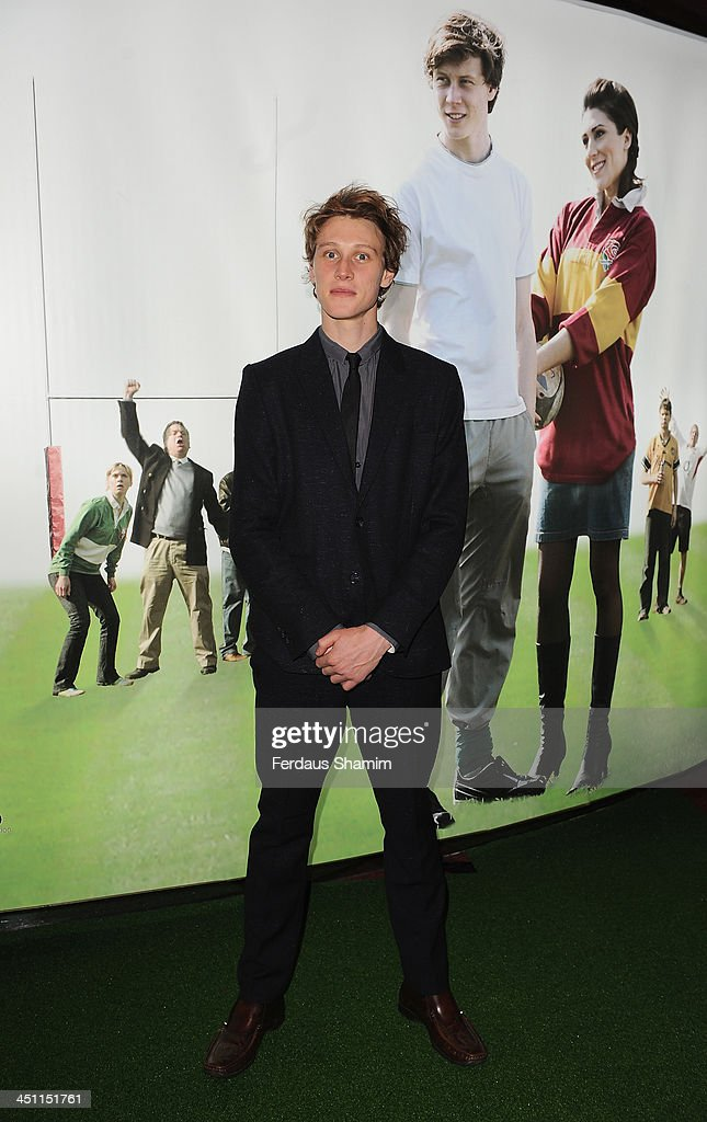 George MacKay attends the world premiere of 'Breakfast With Jonny Wilkinson' at Empire Leicester Square on November 21, 2013 in London, England.