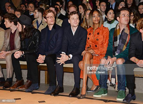 George Mackay James Bay James Norton George Barnett Jourdan Dunn and Nick Grimshaw attends the front row at Burberry Prorsum AW15 London Collections...