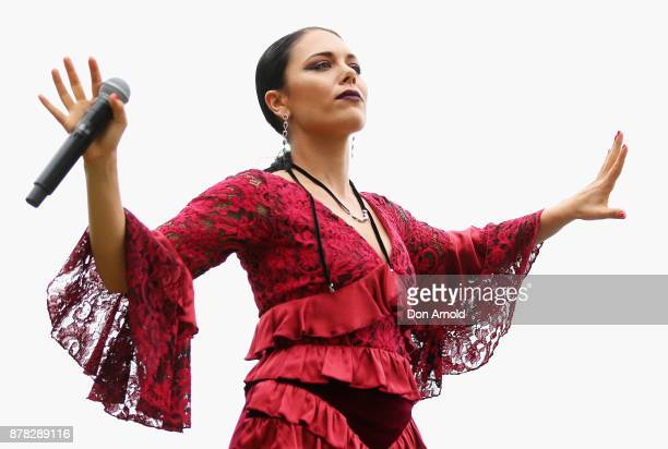 George Maple performs live during the Swarovski Rainbow Paradise Spring Summer 18 Collection Launch on November 24 2017 in Sydney Australia