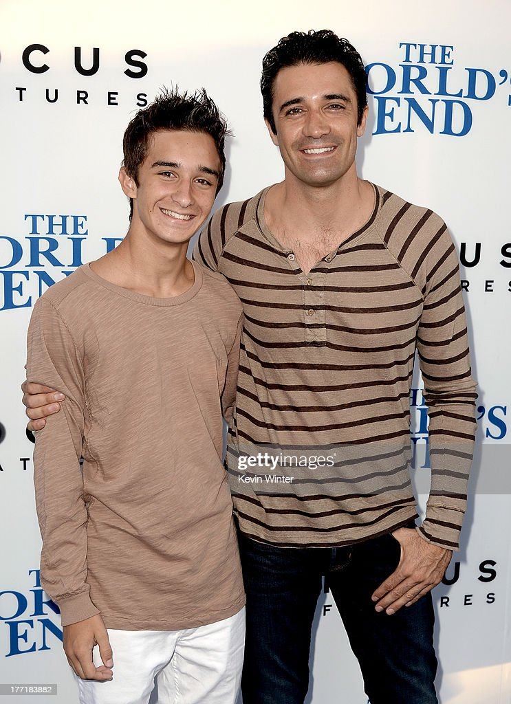 George Marini (L) and <a gi-track='captionPersonalityLinkClicked' href=/galleries/search?phrase=Gilles+Marini&family=editorial&specificpeople=5360860 ng-click='$event.stopPropagation()'>Gilles Marini</a> arrive at the premiere of Focus Features' 'The World's End' at ArcLight Cinemas Cinerama Dome on August 21, 2013 in Hollywood, California.