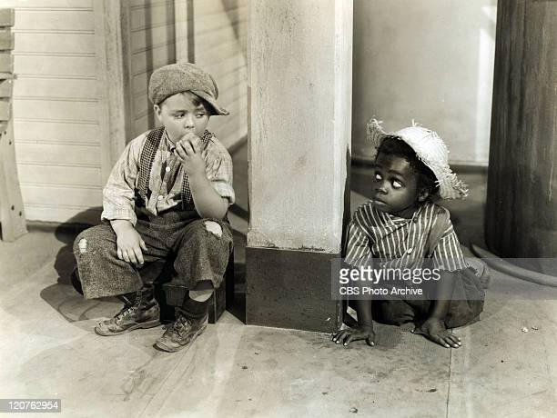 George McFarland as Spanky and Billie Thomas as Buckwheat in 'General Spanky' Original release December 11 1936