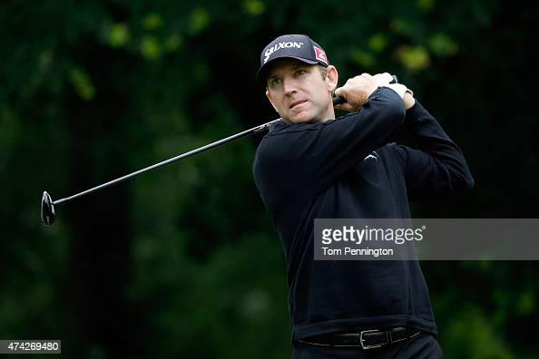 George McNeill hits a shot from the 12th tee during the first round of the Crowne Plaza Invitational at the Colonial Country Club on May 21 2015 in...