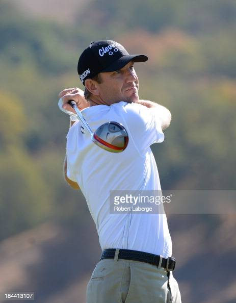 George McNeill hits a tee shot on the second hole during the final round of the Fryscom Open at the CordeValle Golf Club on October 13 2013 in San...
