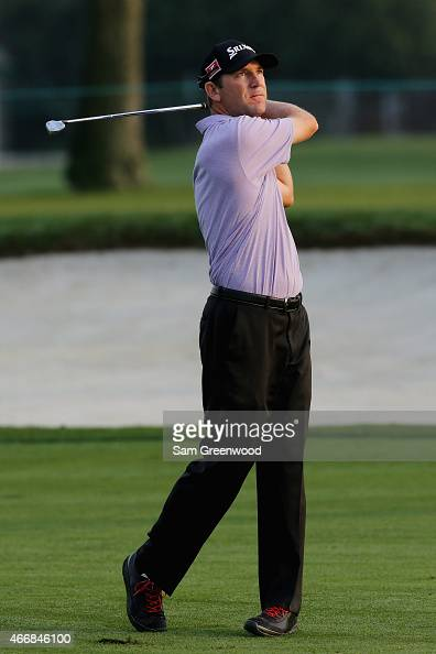 George McNeill of the United States his an approach shot on the 13th hole during the first round of the Arnold Palmer Invitational Presented By...