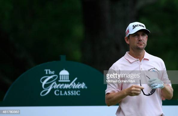 George McNeill of the United States looks on during the final round of the Greenbrier Classic held at The Old White TPC on July 6 2014 in White...