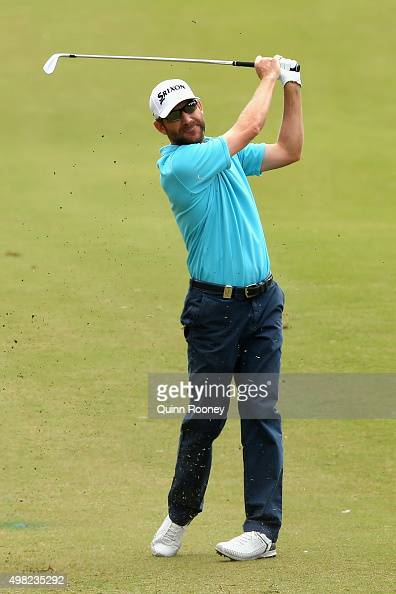 George McNeill of the USA plays an approach shot during the final round of the 2015 Australian Masters at Huntingdale Golf Club on November 22 2015...