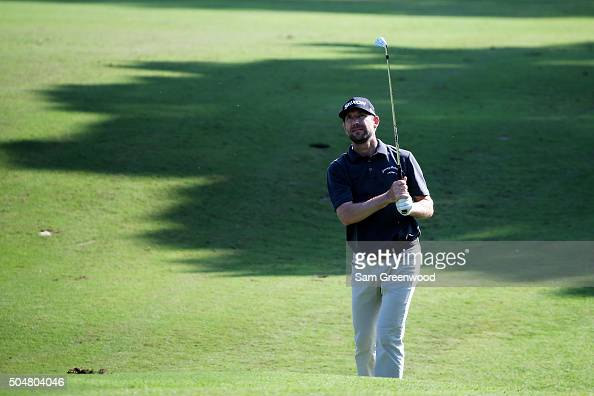 George McNeill plays a shot during practice rounds prior to the Sony Open In Hawaii at Waialae Country Club on January 12 2016 in Honolulu Hawaii