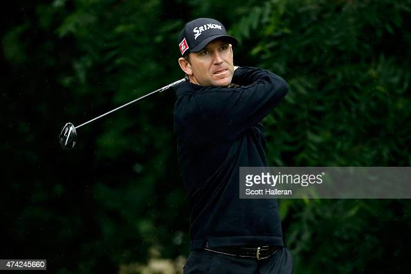 George McNeill tees off on the 6th hole during the first round of the Crowne Plaza Invitational at the Colonial Country Club on May 21 2015 in Fort...