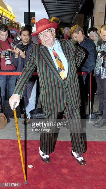George Melly during Hackney Empire Cabaret Performance Arrivals at Hackney Empire in London Great Britain