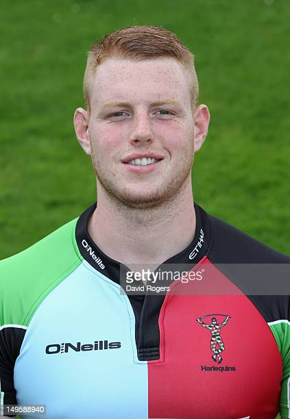 George Merrick of Harlequins poses for a portrait at Surrey Sports Centre on July 31 2012 in Guildford England