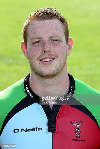 George Merrick of Harlequins poses for a portrait at the Surrey Sports Park on August 19 2013 in Guildford England