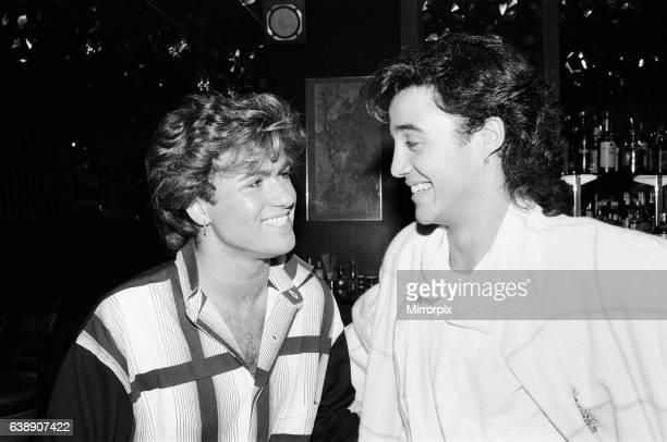 George Michael and Andrew Ridgeley of the pop group Wham 2nd November 1984