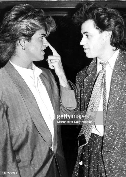 George Michael and Bob Geldof 1985 Michael's partner Andrew Ridgeley had a nosejob