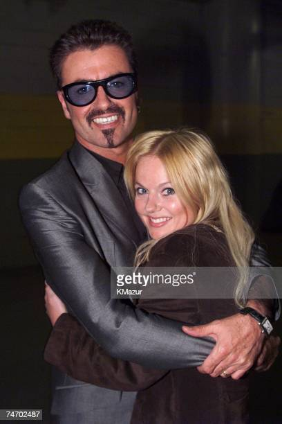 George Michael and Geri Halliwell at the RFK Stadium in Washington DC