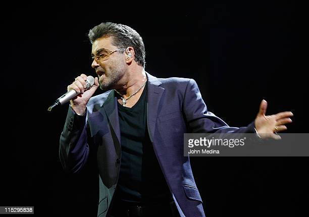 George Michael performs at the HP Pavilion on June 19 2008 in San Jose California