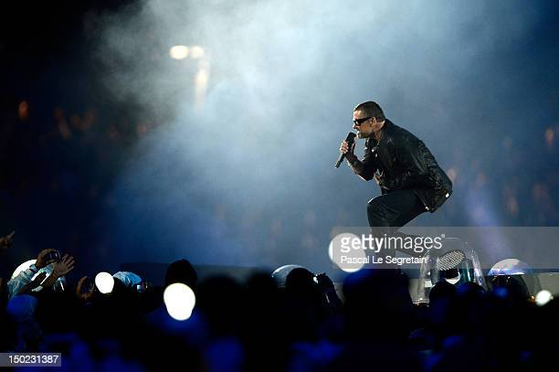 George Michael performs during the Closing Ceremony on Day 16 of the London 2012 Olympic Games at Olympic Stadium on August 12 2012 in London England