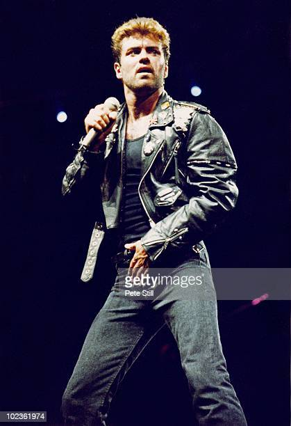 George Michael performs on stage on his 'Faith' tour at Earls Court Arena on June 15th 1988 in London England