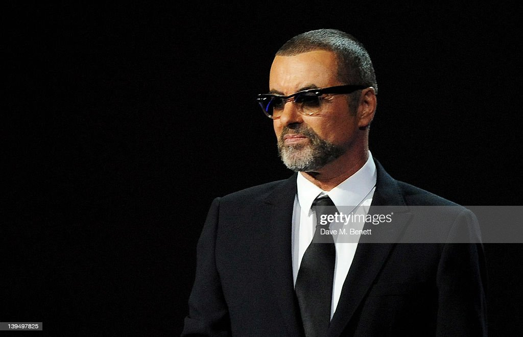 George Michael presents during the BRIT Awards 2012 held at the O2 Arena on February 21, 2012 in London, England.
