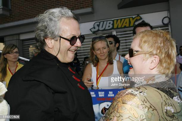 George Miller and Magda Szubanski during 'Happy Feet' Australian Premiere Blue Carpet December 10 2006 at Entertainment Quarter in Sydney NSW...