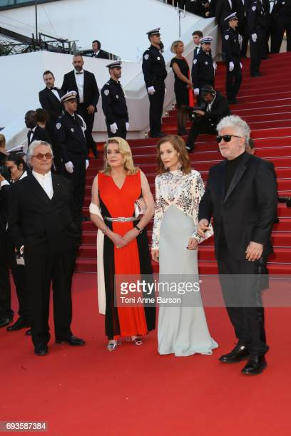 George Miller Catherine Deneuve Isabelle Huppert and Pedro Almodovar attend the 70th anniversary event during the 70th annual Cannes Film Festival at...