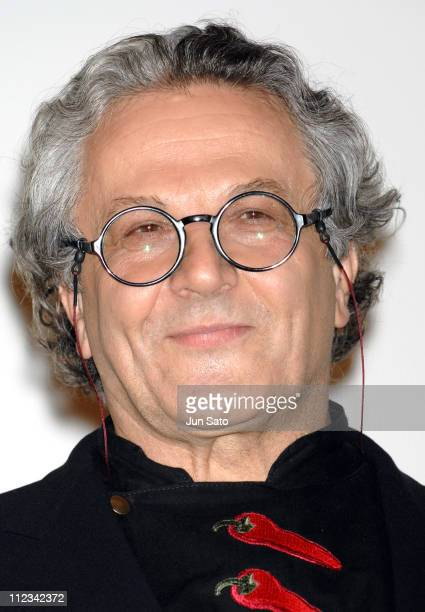 George Miller director during 'Happy Feet' Stage Greeting in Tokyo at Marunouchi Piccadilly 2 in Tokyo Japan