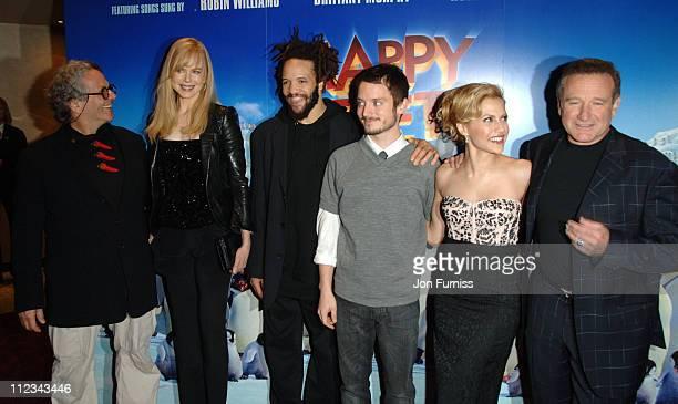 George Miller Nicole Kidman Elijah Wood Brittany Murphy and Robin Williams