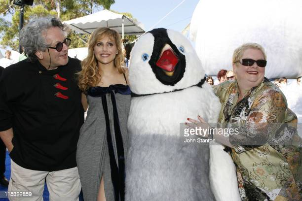 George MillerBrittany Murphy and Magda Szubanski during 'Happy Feet' Australian Premiere Blue Carpet December 10 2006 at Entertainment Quarter in...