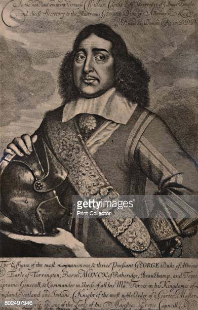 George Monck 1st Duke of Albemarle English soldier and statesman 17th century From A Collection of Engraved Portraits Exhibited by the Late James...