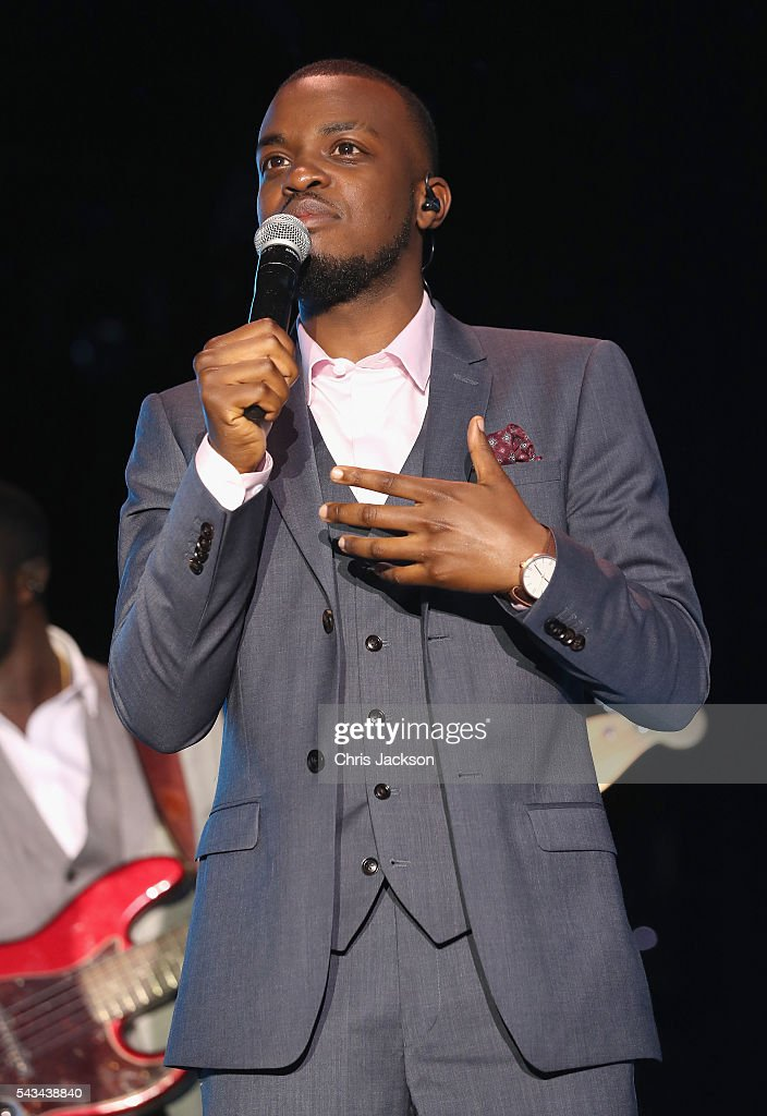 George Mpanga aka George the Poet performs on stage during the Sentebale Concert at Kensington Palace on June 28, 2016 in London, England. Sentebale was founded by Prince Harry and Prince Seeiso of Lesotho over ten years ago. It helps the vulnerable and HIV positive children of Lesotho and Botswana.