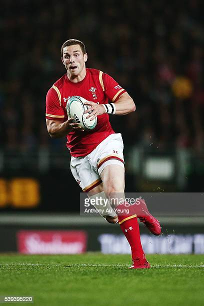 George North of Wales in action during the International Test match between the New Zealand All Blacks and Wales at Eden Park on June 11 2016 in...