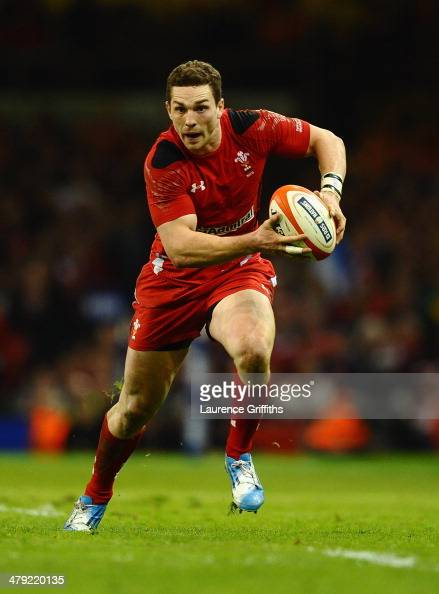 George North of Wales in action during the RBS Six Nations match between Wales and Scotland at Millennium Stadium on March 15 2014 in Cardiff Wales