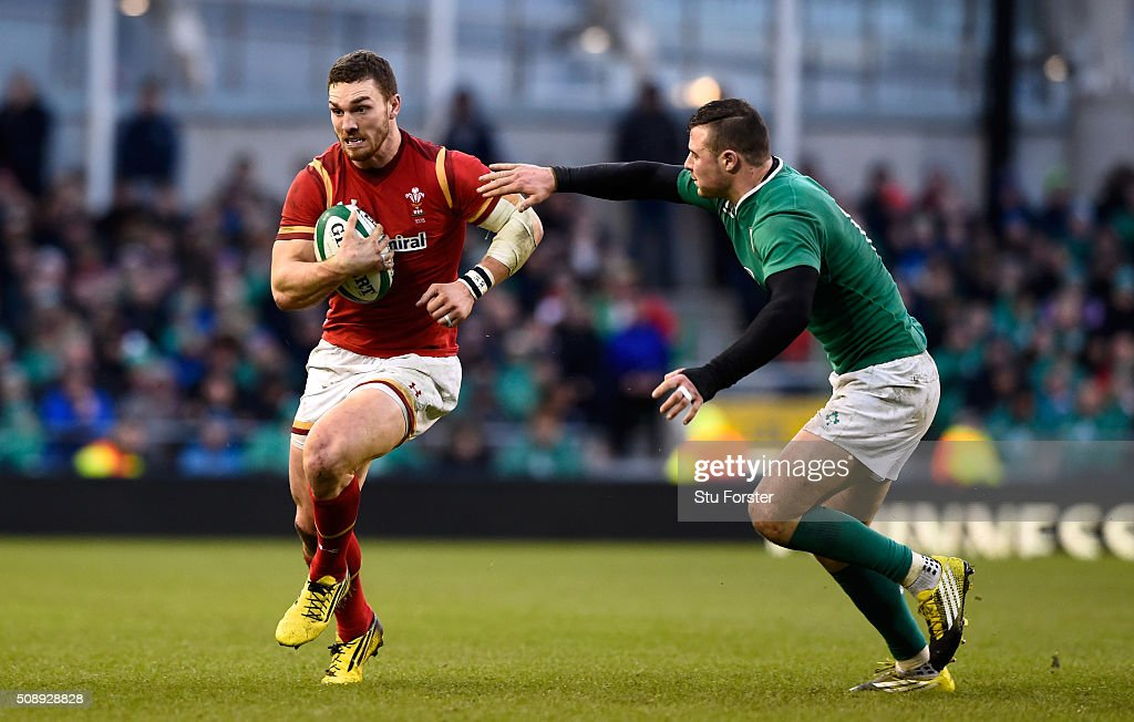 <a gi-track='captionPersonalityLinkClicked' href=/galleries/search?phrase=George+North&family=editorial&specificpeople=7320853 ng-click='$event.stopPropagation()'>George North</a> of Wales in action during the RBS Six Nations match between Ireland and Wales at the Aviva Stadium at Aviva Stadium on February 7, 2016 in Dublin, Ireland.