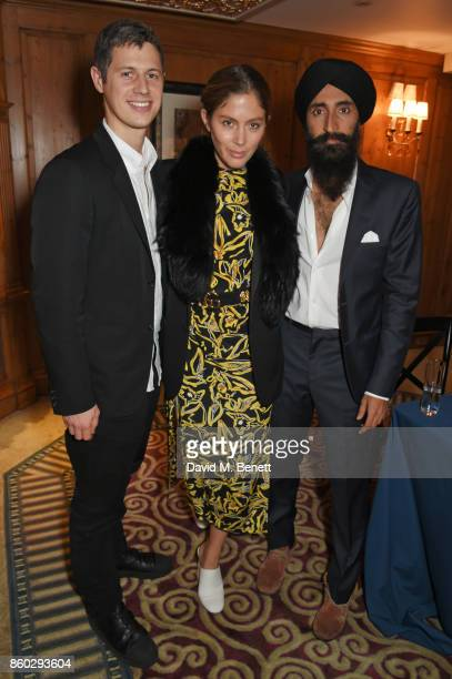 George Northcott Quentin Jones and Waris Ahluwalia attend a private dinner following the Warrior Games Exhibition VIP Preview hosted by HRH Princess...