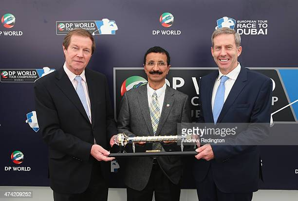 George O'Grady Chief Executive of the European Tour His Excellency Sultan Ahmed Bin Sulayem Chairman of DP World and Keith Waters COO and Director of...