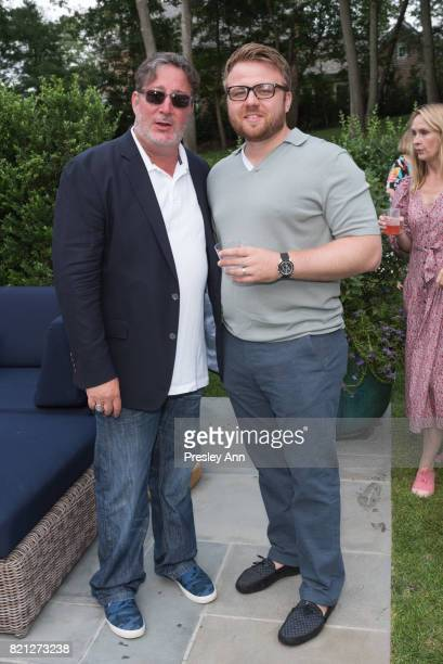 George Orloff and Paul Canyon attend The Daily Summer x Shopbop Summer Shindig at Private Residence on July 22 2017 in Sag Harbor New York