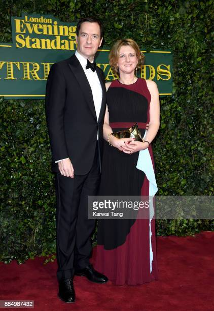 George Osborne and Frances Osborne attend the London Evening Standard Theatre Awards at Theatre Royal on December 3 2017 in London England