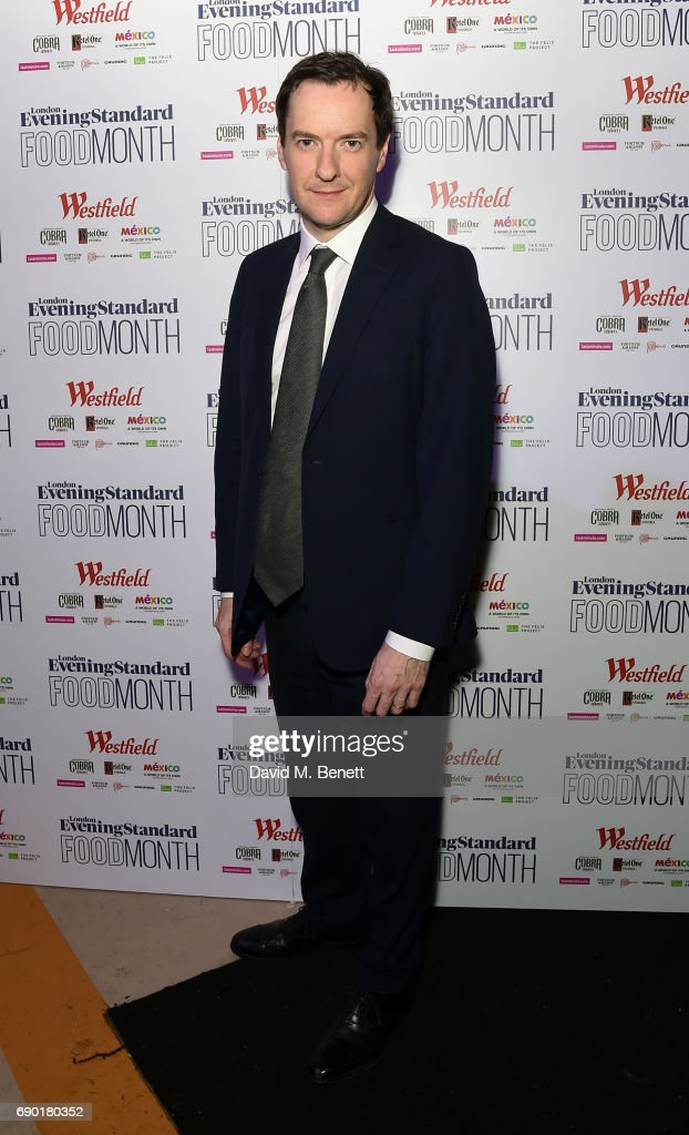 George Osborne attends the launch of the London Evening Standard's inaugural Food Month hosted by Grace Dent and Tom Parker Bowles at The Banking Hall on May 30, 2017 in London, England.