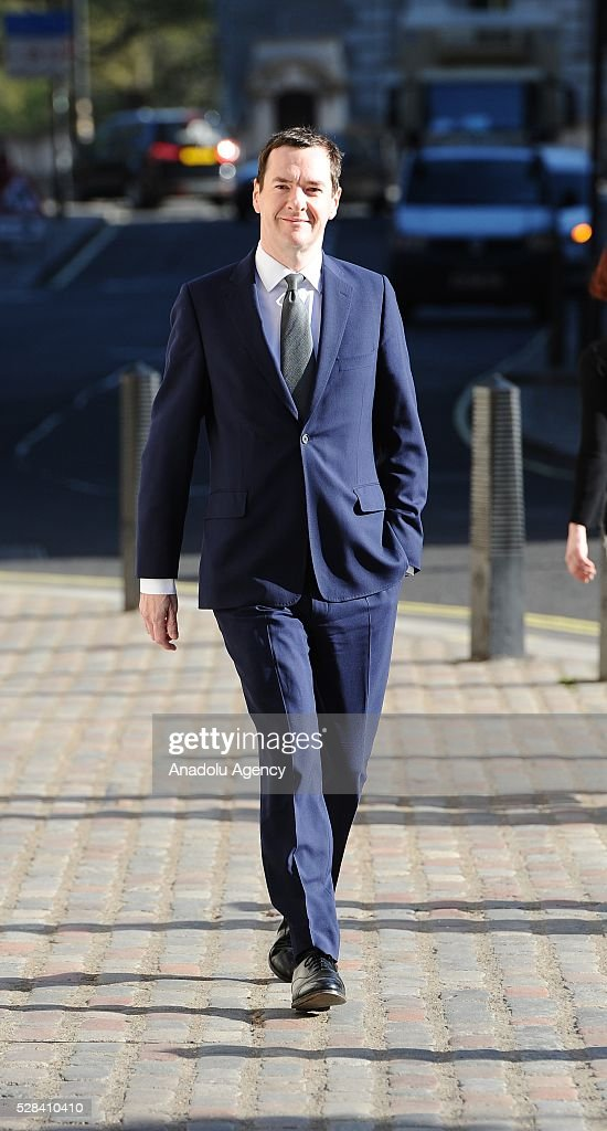 George Osborne leaves the Central Methodist Hall polling station after he casted his vote for the London Mayoral Elections in London, England on May 05, 2016. Elections are taking place for the Scottish Parliament, National Assembly of Wales, the Northern Ireland Assembly, the London Mayor and for 124 councils in England. .