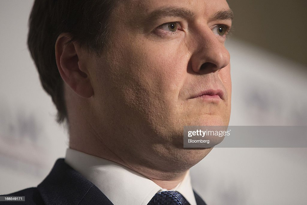 <a gi-track='captionPersonalityLinkClicked' href=/galleries/search?phrase=George+Osborne&family=editorial&specificpeople=5544226 ng-click='$event.stopPropagation()'>George Osborne</a>, U.K. chancellor of the exchequer, pauses during a news conference at the Group of Seven (G-7) finance ministers and central bank governors meeting at Hartwell House in Aylesbury, U.K., on Saturday, May 11, 2013. Global finance chiefs clashed over the correct speed of budget cutting as they sought fresh ways to rally the slowing world economy. Photographer: Simon Dawson/Bloomberg via Getty Images