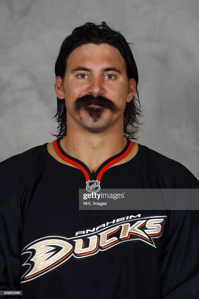 <a gi-track='captionPersonalityLinkClicked' href=/galleries/search?phrase=George+Parros&family=editorial&specificpeople=557239 ng-click='$event.stopPropagation()'>George Parros</a> of the Anaheim Ducks poses for his official headshot for the 2008-2009 NHL season.
