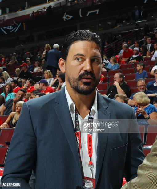 George Parros of the NHL attends the 2017 NHL Draft at the United Center on June 24 2017 in Chicago Illinois