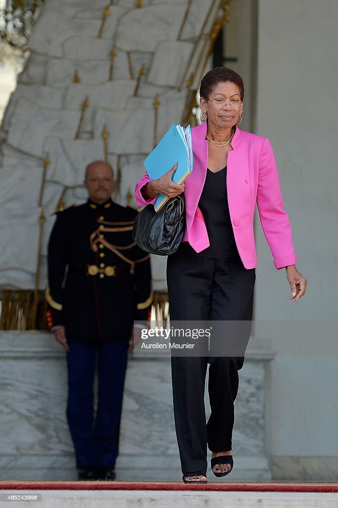 George Pau-Langevin, French Minister for Overseas Territories leaves the Elysee Palace after the weekly cabinet meeting on August 26, 2015 in Paris, France.